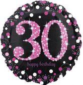 Fóliový balón 30 Pink Diamonds