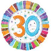 Fóliový balón ´´30´´ Radiant Birthday