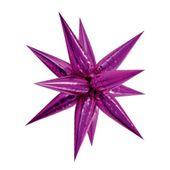 Fóliový balón 3D hviezda ružový