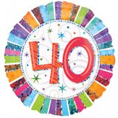 Fóliový balón ´´40´´ Radiant Birthday