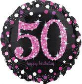 Fóliový balón 50 Pink Diamonds