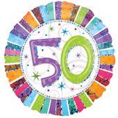 Fóliový balón ´´50´´ Radiant Birthday