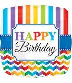 Fóliový balón Birthday Bright Rainbow