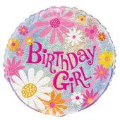Fóliový balón Birthday Girl glitz