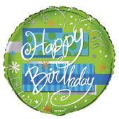 Fóliový balón Bright Happy Birthday