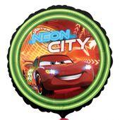 Fóliový balón Cars neon