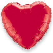 Fóliový balón srdce červené