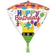 Fóliový balón diamantový Happy Birthday
