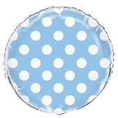 Fóliový balón dots baby blue
