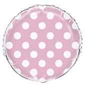 Fóliový balón dots baby pink