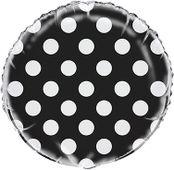 Fóliový balón dots čierny