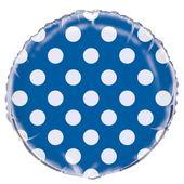 Fóliový balón dots modrý