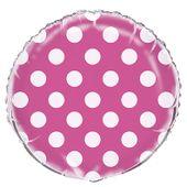 Fóliový balón dots hot pink