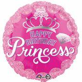 Fóliový balón Happy Birthday Princess