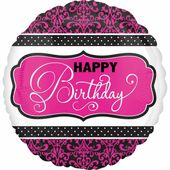 Fóliový balón HB Pink & Black