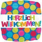 Fóliový balón Herzlich Willkommen