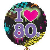 Fóliový balón I love 80´s Disco
