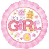 Fóliový balón It's a Girl Pink