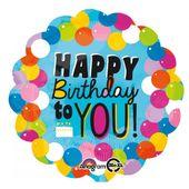 Fóliový balón jumbo Happy Birthday to you!