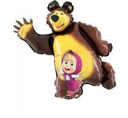 Mini fóliový balón Máša a medveď