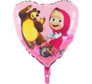Fóliový balón Máša a medveď srdce