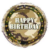 Fóliový balón Maskáče Happy Birthday