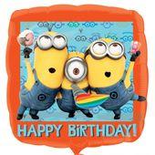 Fóliový balón Mimoni Happy Birthday