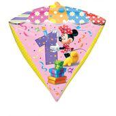 Fóliový balón diamant Minnie 1 narodeniny