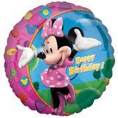 Fóliový balón Minnie Happy Birthday