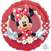 Fóliový balón Minnie red
