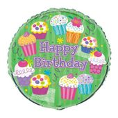 Fóliový balón Muffin party Happy Birthday