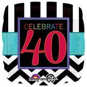 """Fóliový balón narodeniny """"40"""""""