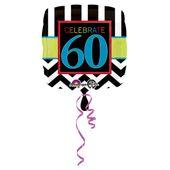 """Fóliový balón narodeniny """"60"""""""