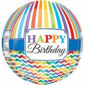 Fóliový balón orbz Bright Birthday