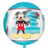 Fóliový balón orbz Mickeyho 1. narodeniny