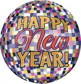 Fóliový balón orbz New Year Disco