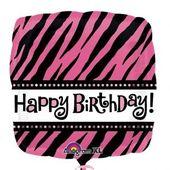 Fóliový balón Pink Zebra HB