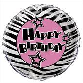 Fóliový balón Pink Zebra passion