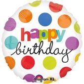 Fóliový balón Polka Dot Birthday