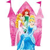 Fóliový balón supershape Disney Princezné hrad