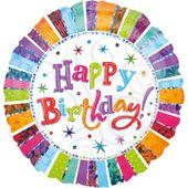 Fóliový balón Jumbo Radiant Birthday