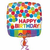 Fóliový balón Rainbow Birthday