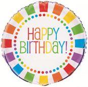 """Fóliový balón Rainbow """"Happy Birthday"""""""