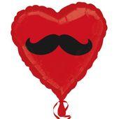 Fóliový balón srdce Fúzy