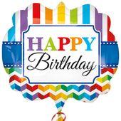 Fóliový balón supershape Bright Birthday