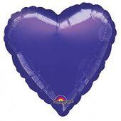 Fóliový balón srdce tmavofialové