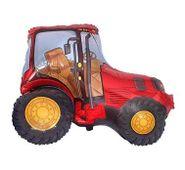 Mini fóliový balón Traktor červený