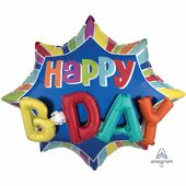 Fóliový multibalón Burst Happy Birthday