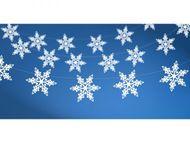 Girlanda Snehové vločky