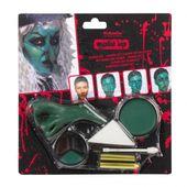 Halloweensky make up – Zelená striga